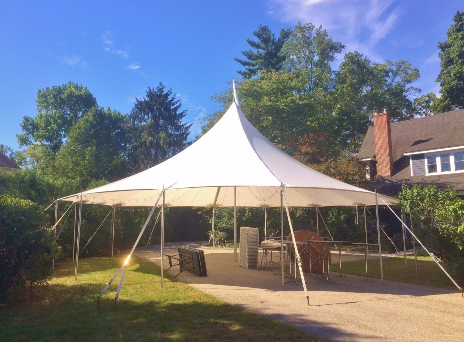 Beautiful sailcloth tent for rent in Ocean City, MD