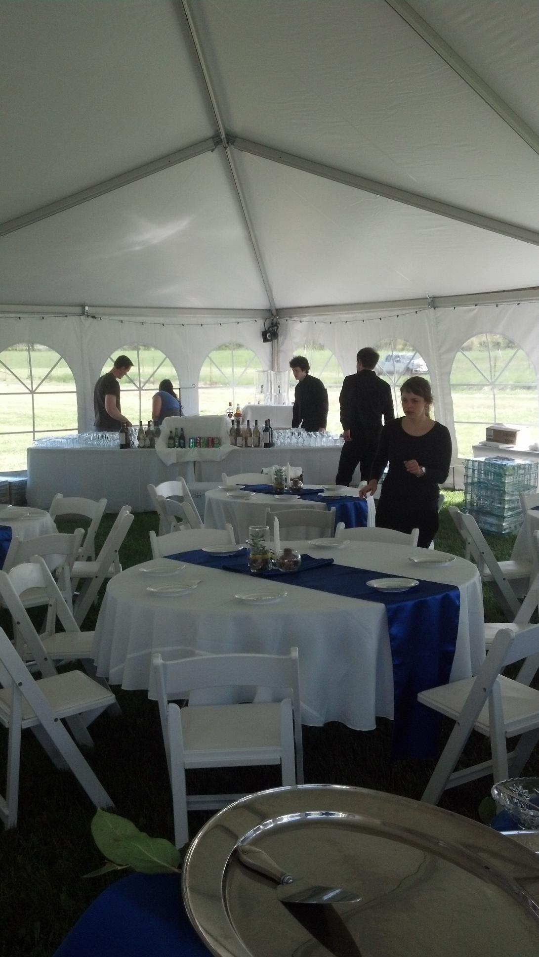 Eloquent rentals for your tent wedding