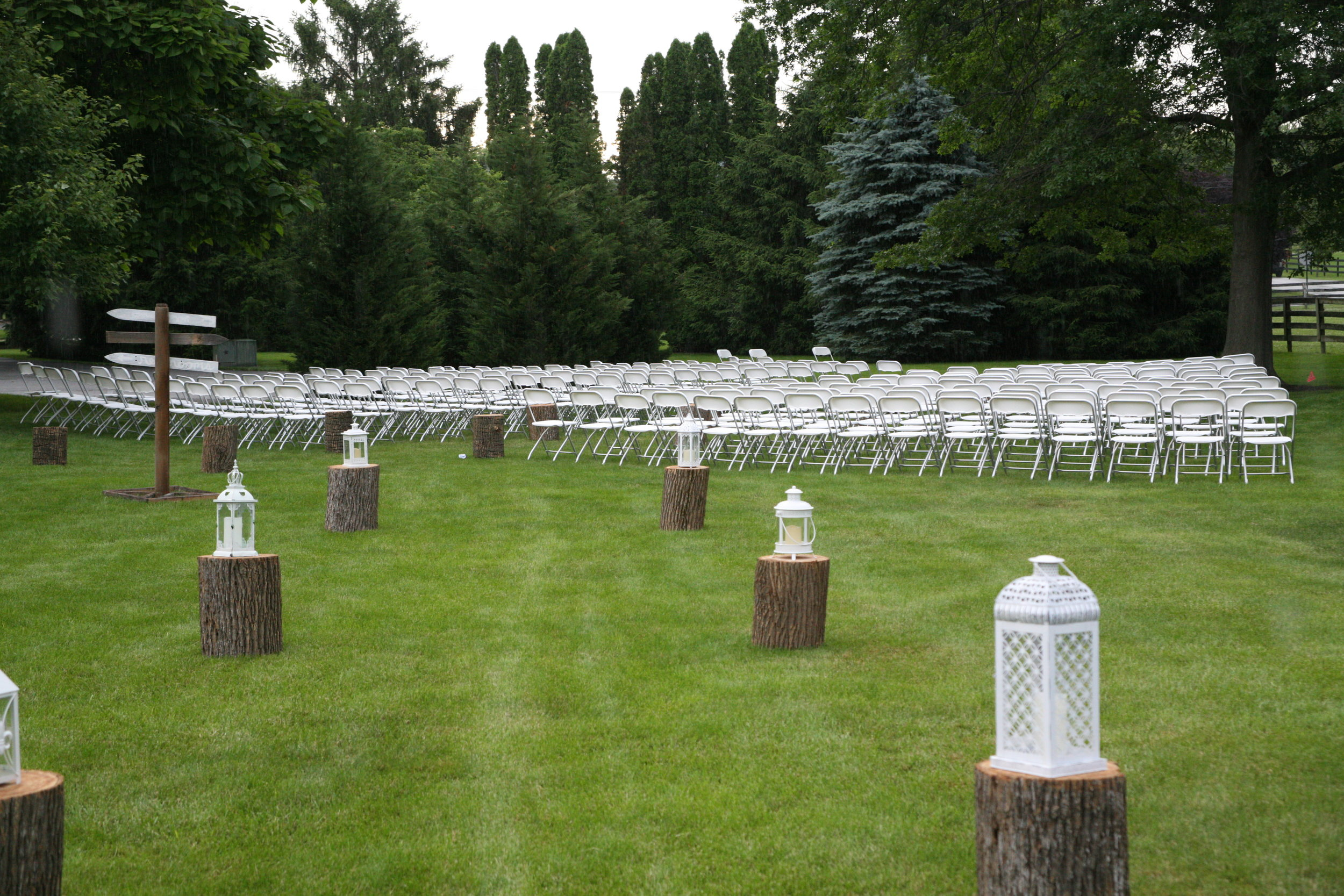 White folding chairs for your special day