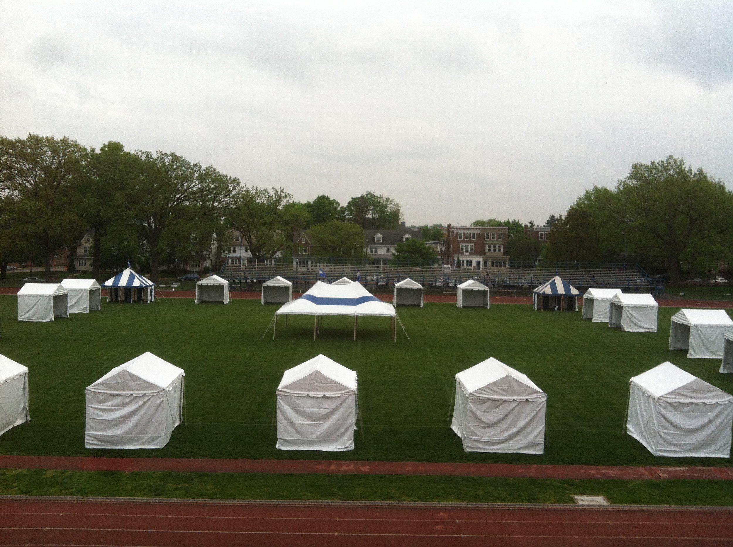 College event rental tents