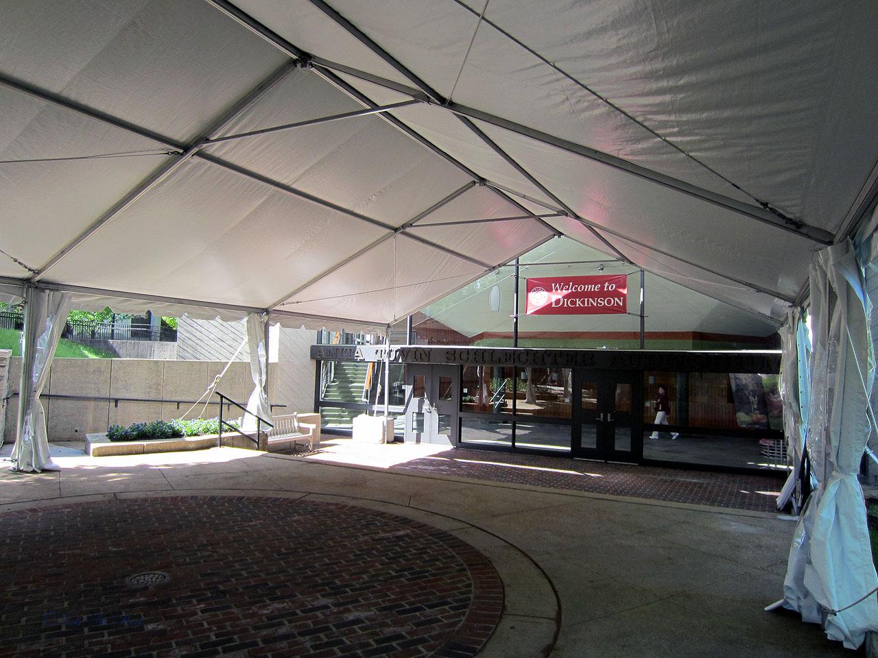 College tent rental