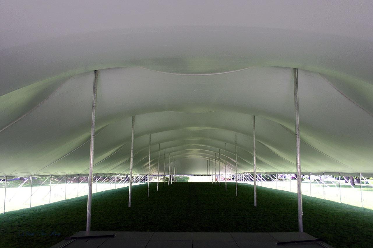 College graduation tent