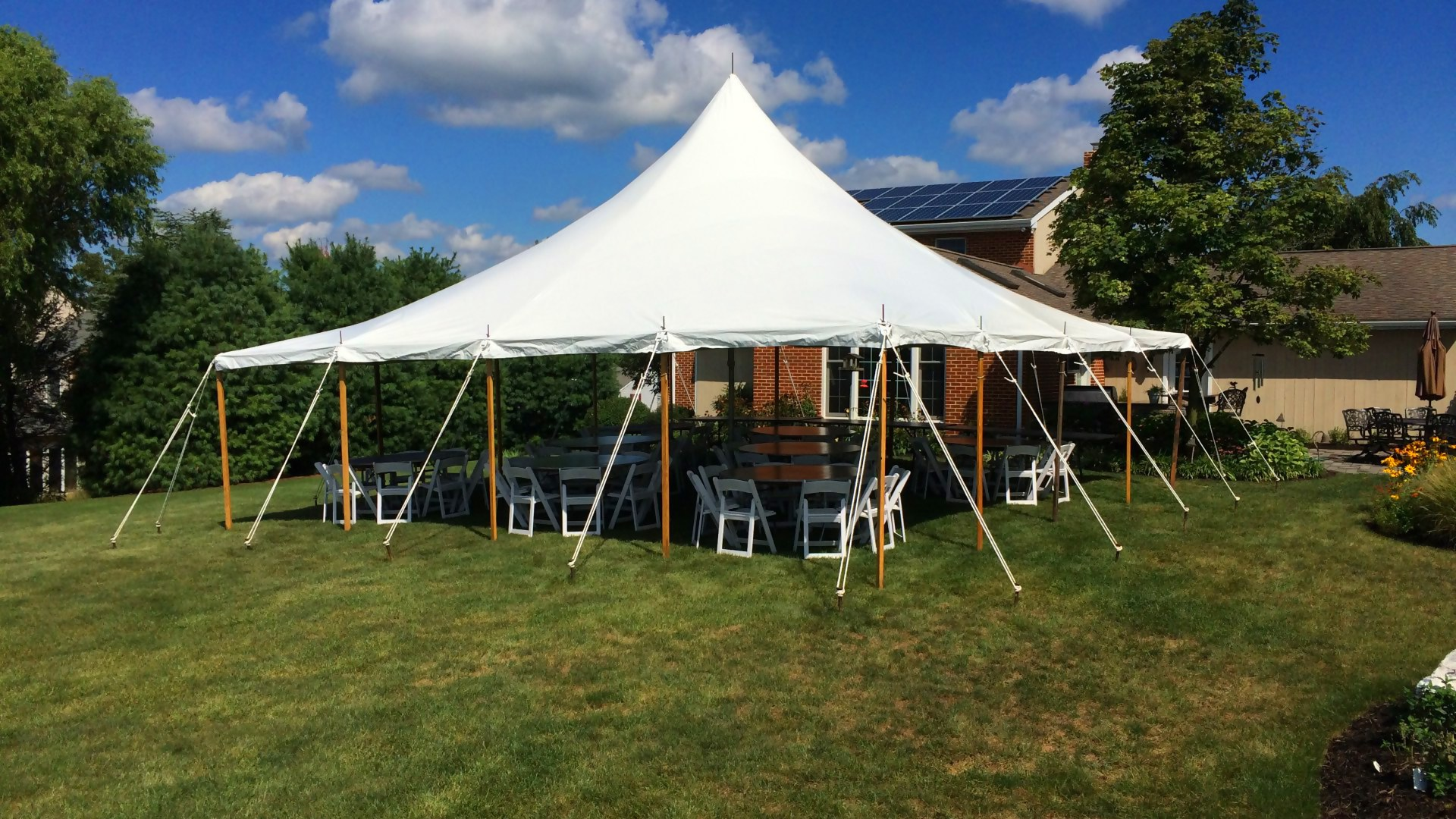 Nice, white pole tent for rent in Scranton, PA