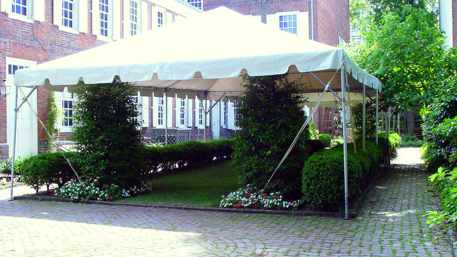 Beautiful white frame tent for rent in Coatesville, PA