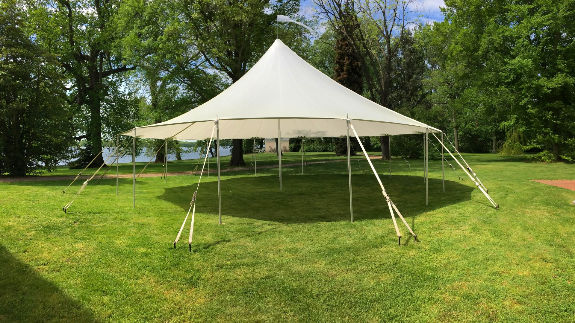 Beautiful sailcloth tent for rent in Coatesville, PA