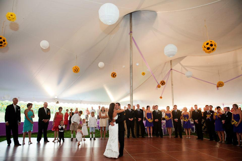 Beautiful cherry dance floor for rent in Chambersburg, PA
