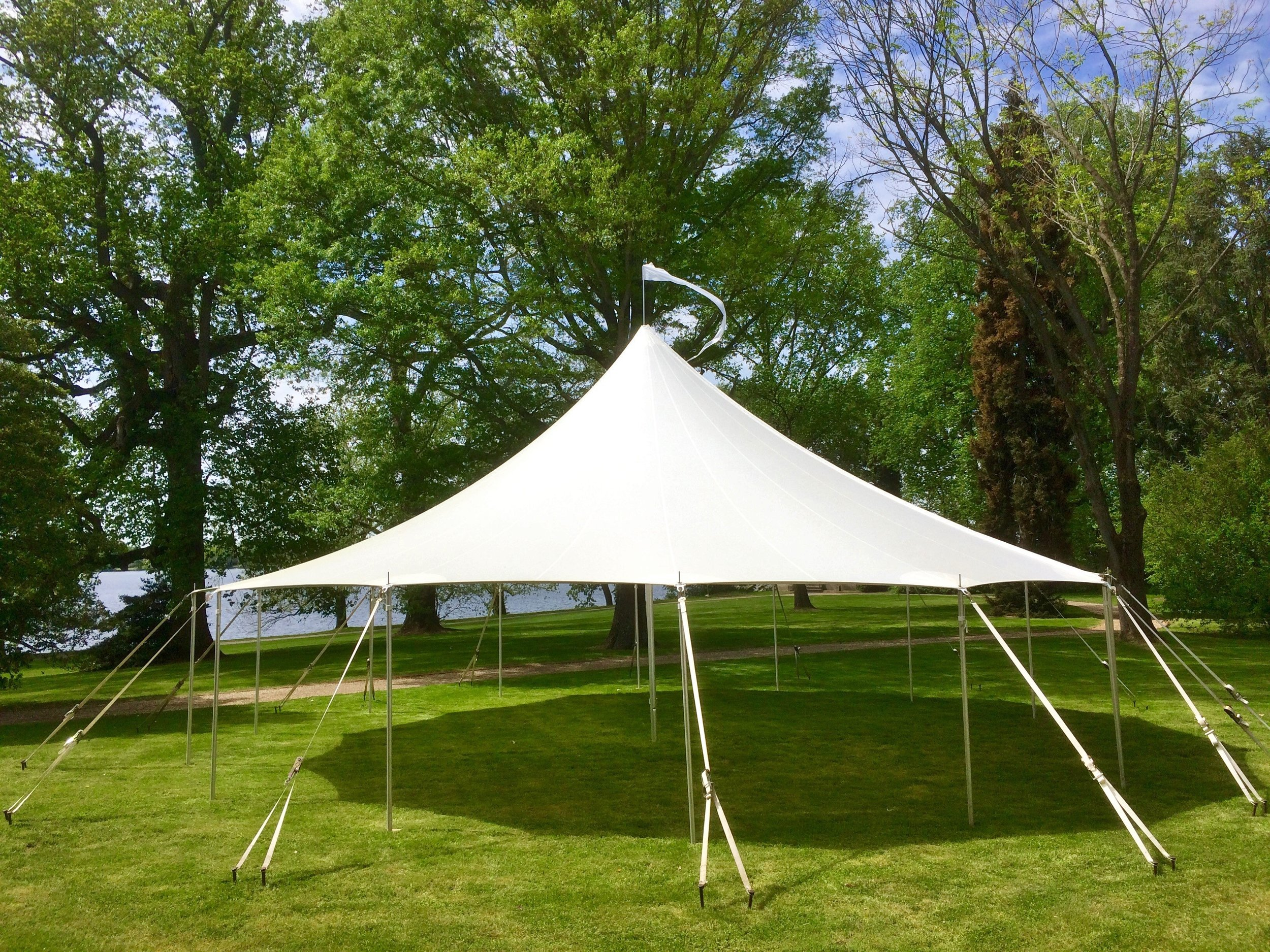 Beautiful sailcloth tent for rent in Cherry Hill, NJ