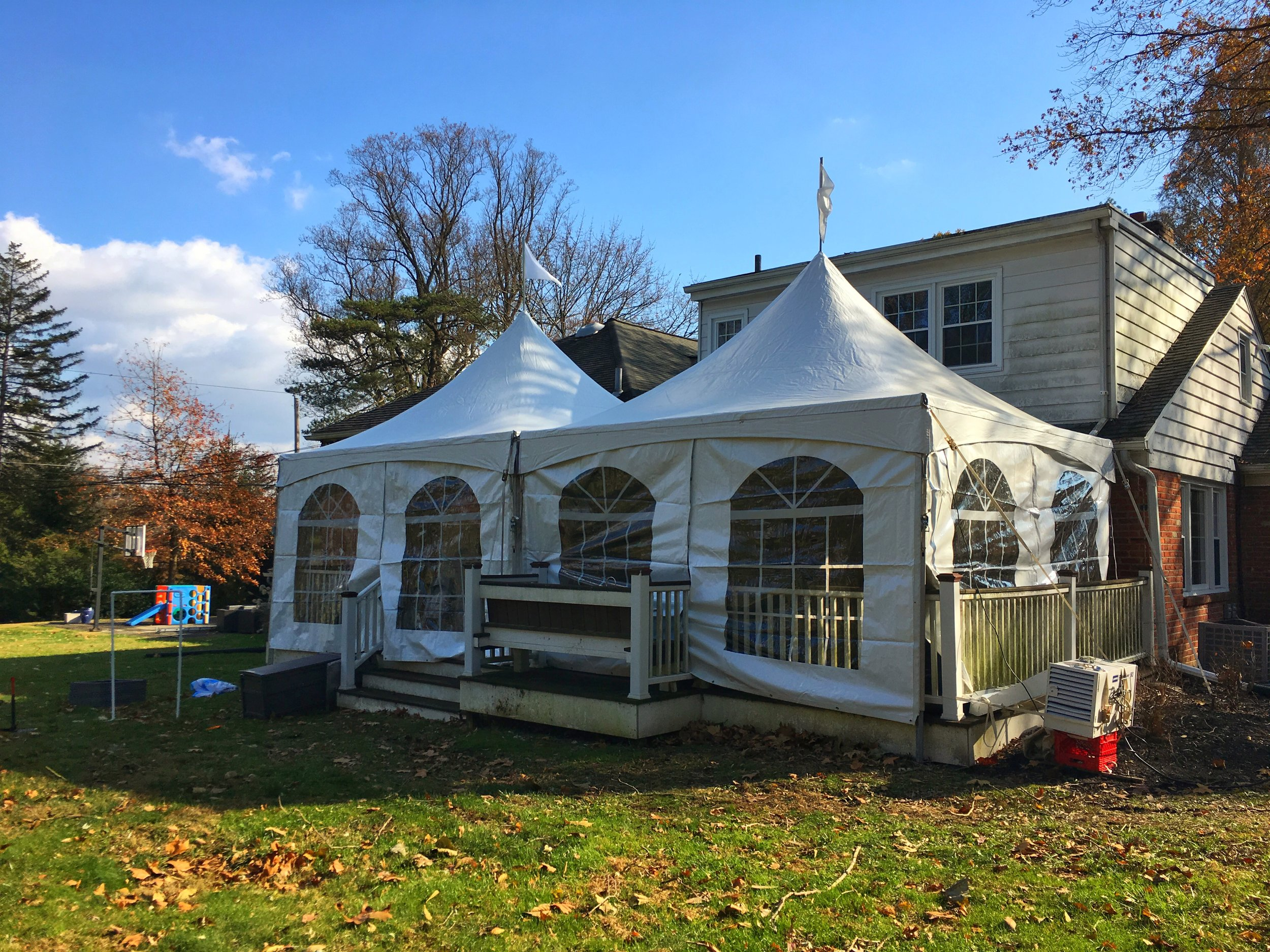 Nice backyard frame tent for rent in Cherry Hill, NJ