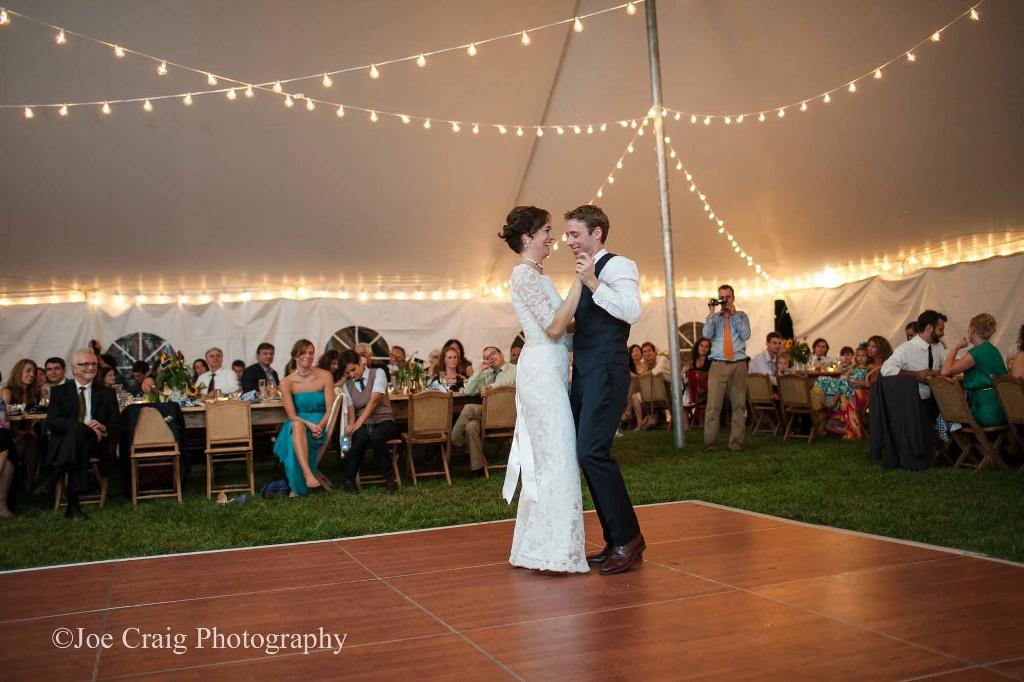 Beautiful cherry dance floor for rent in Enola, PA