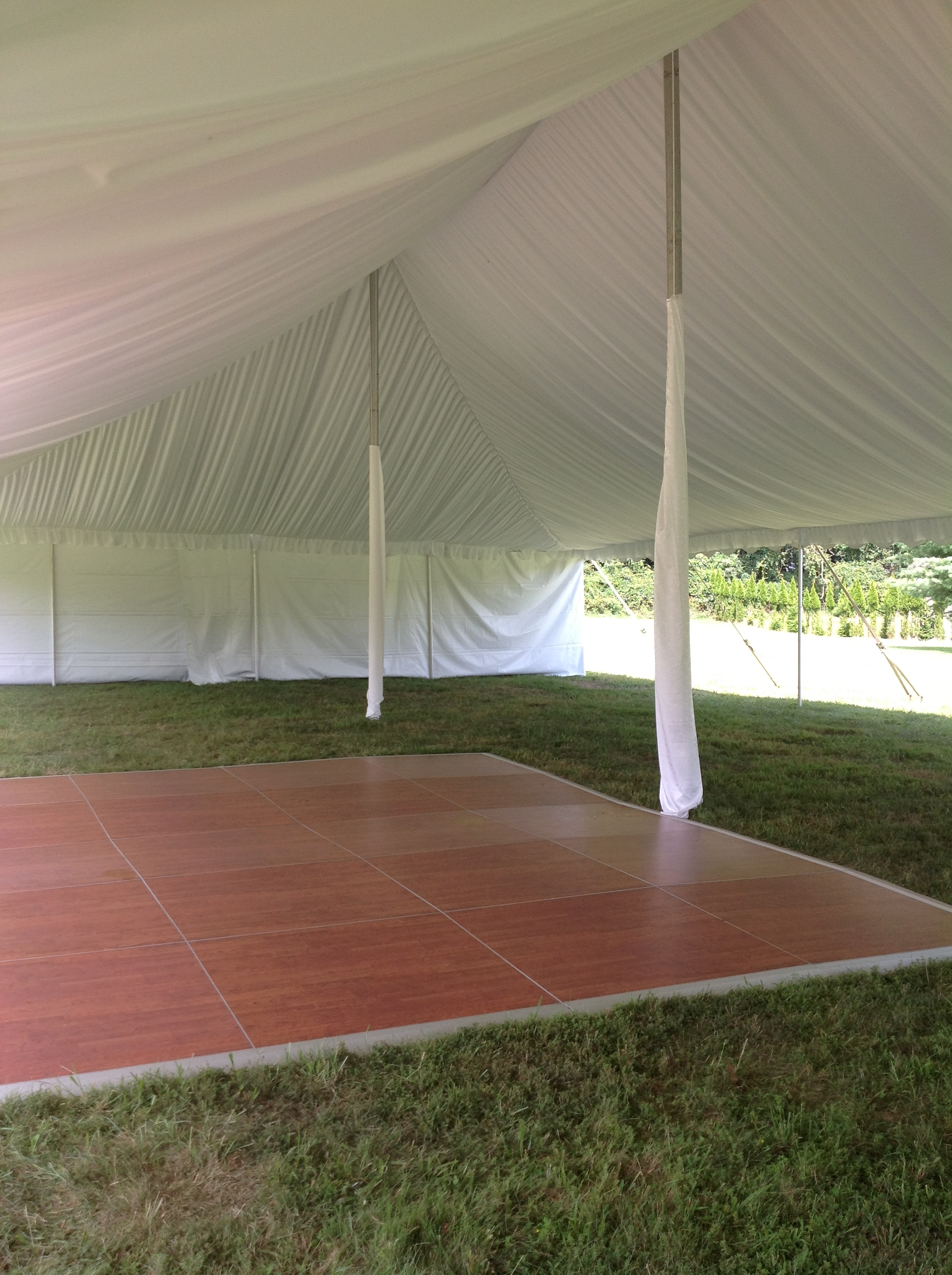 Beautiful cherry dance floor for rent in Camp Hill, PA