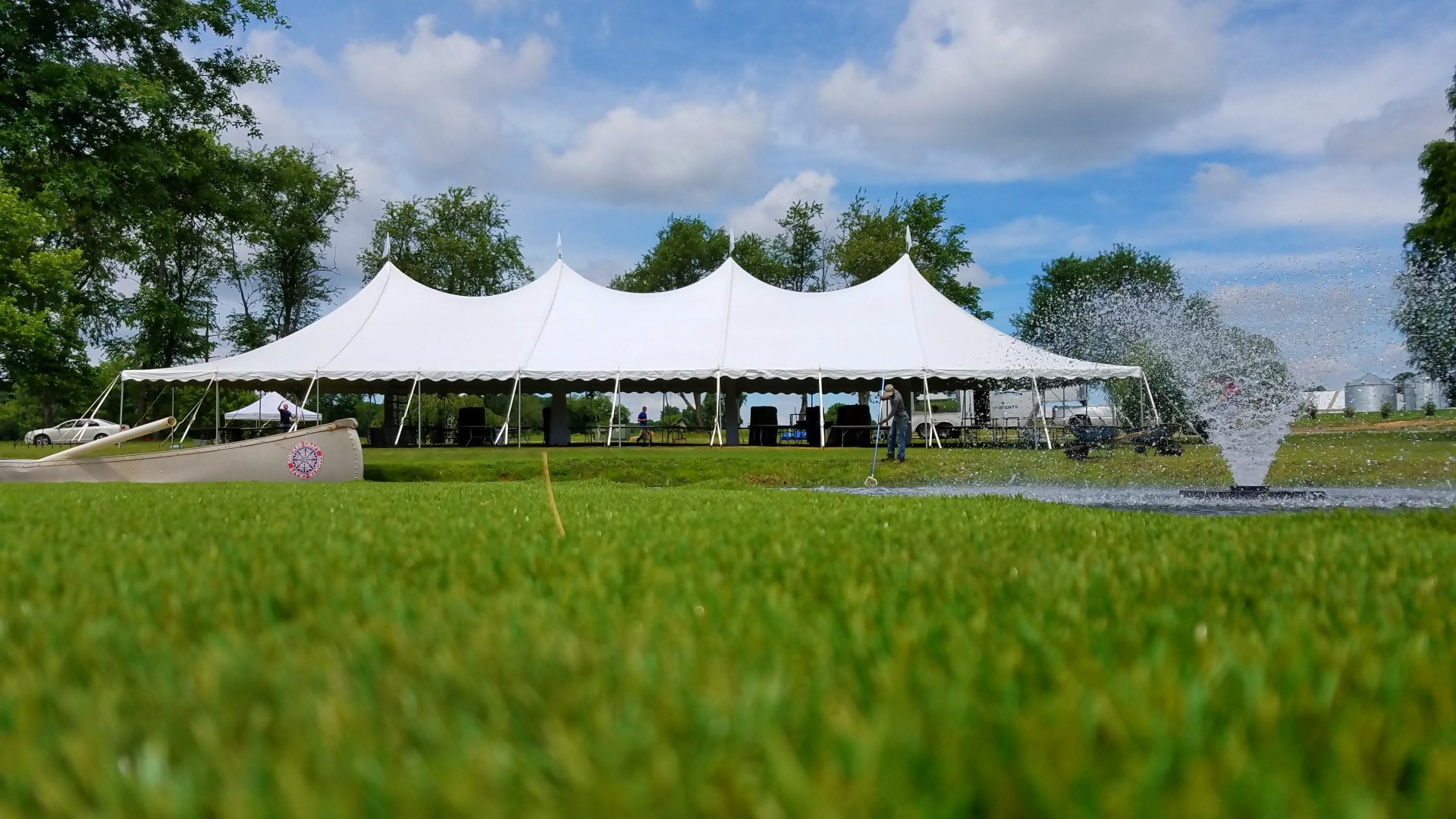 Large white tent for rent in Oxford, PA
