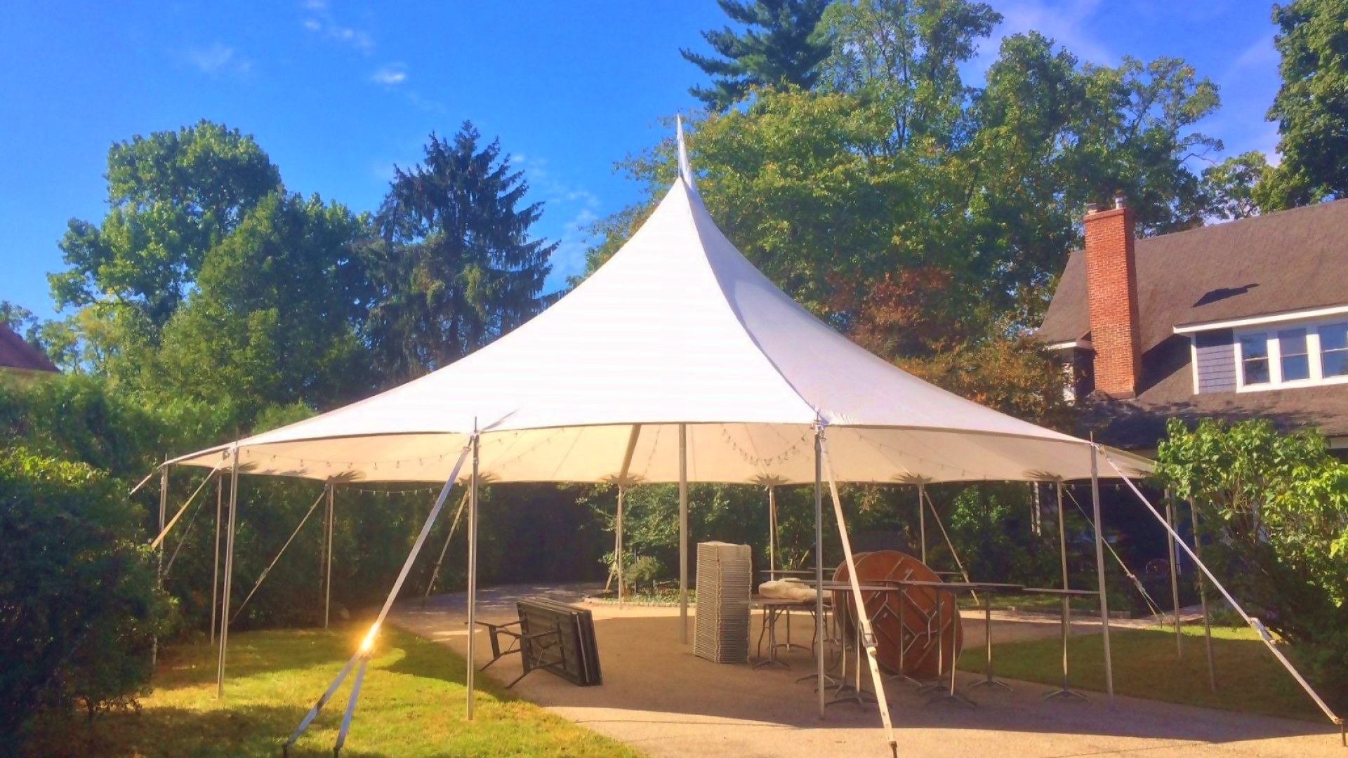 Gorgeous sailcloth tent for rent in Oxford, PA