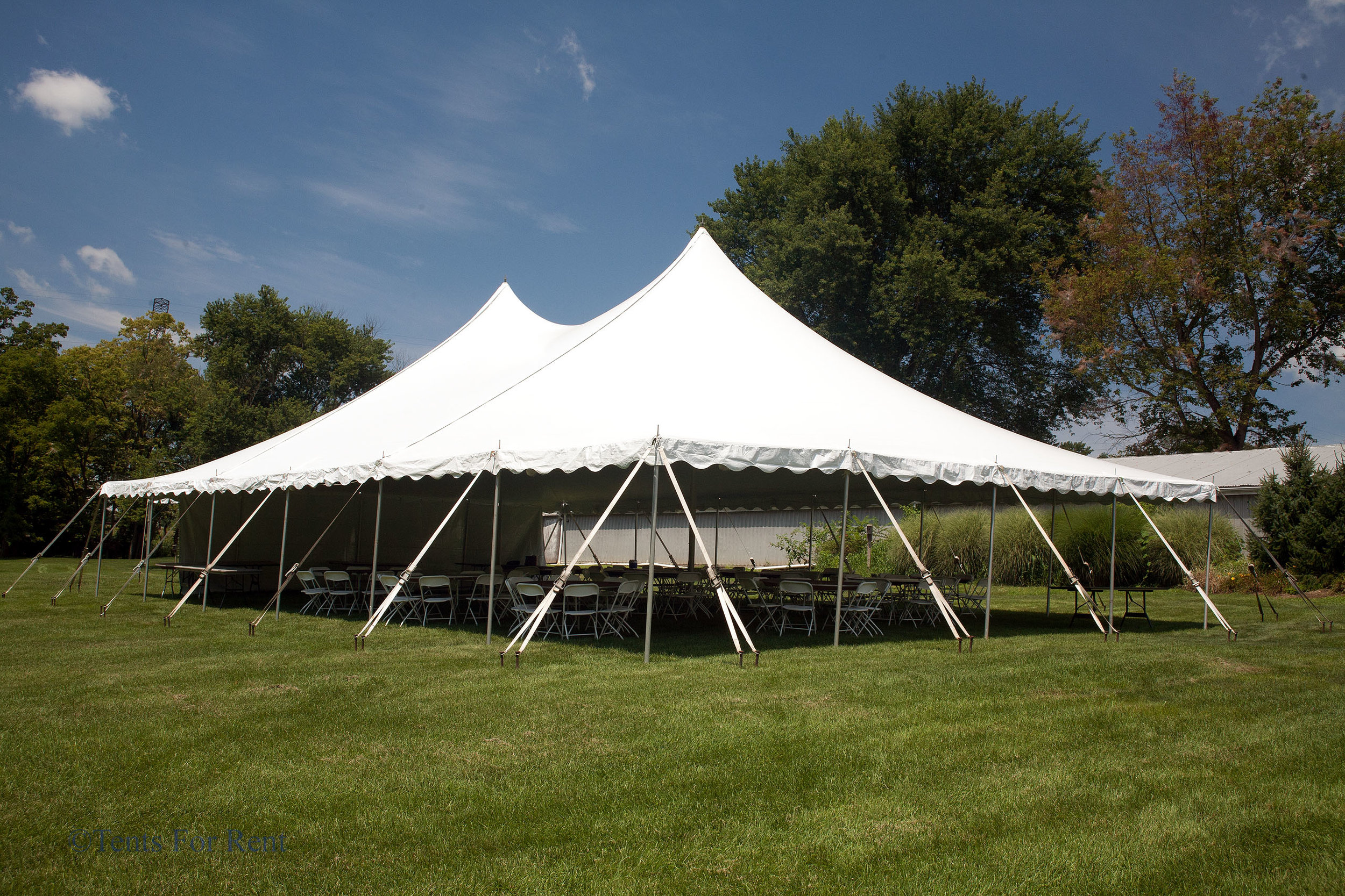 Beautiful white tent for rent in Palmyra, PA
