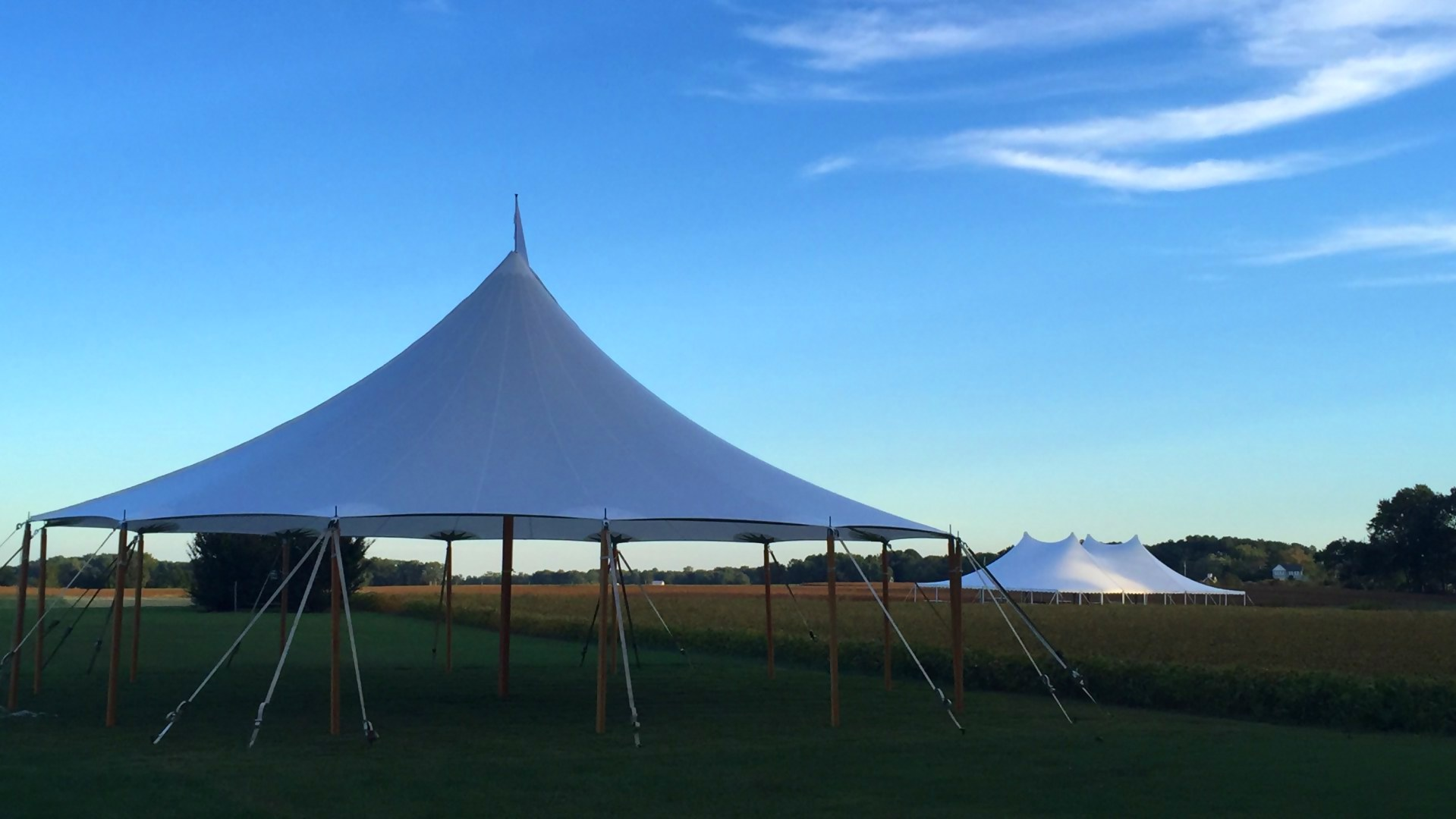 Beautiful sailcloth tent for rent in Annville, PA