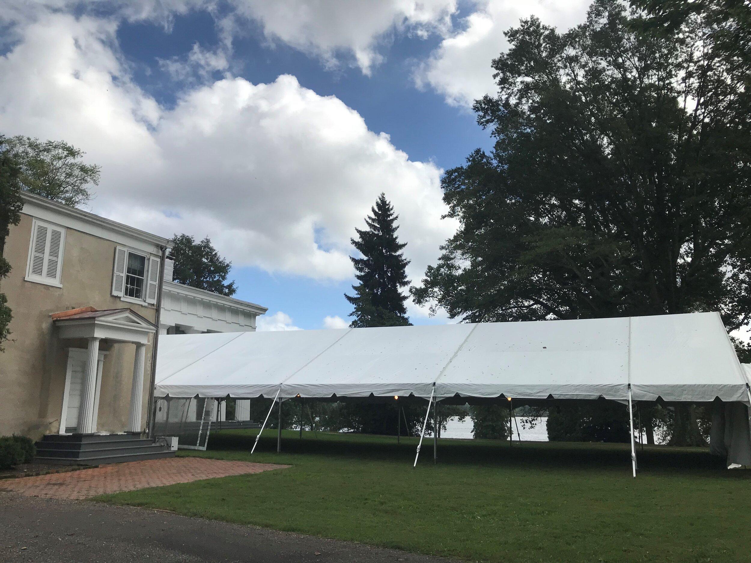 Wedding venue tent management