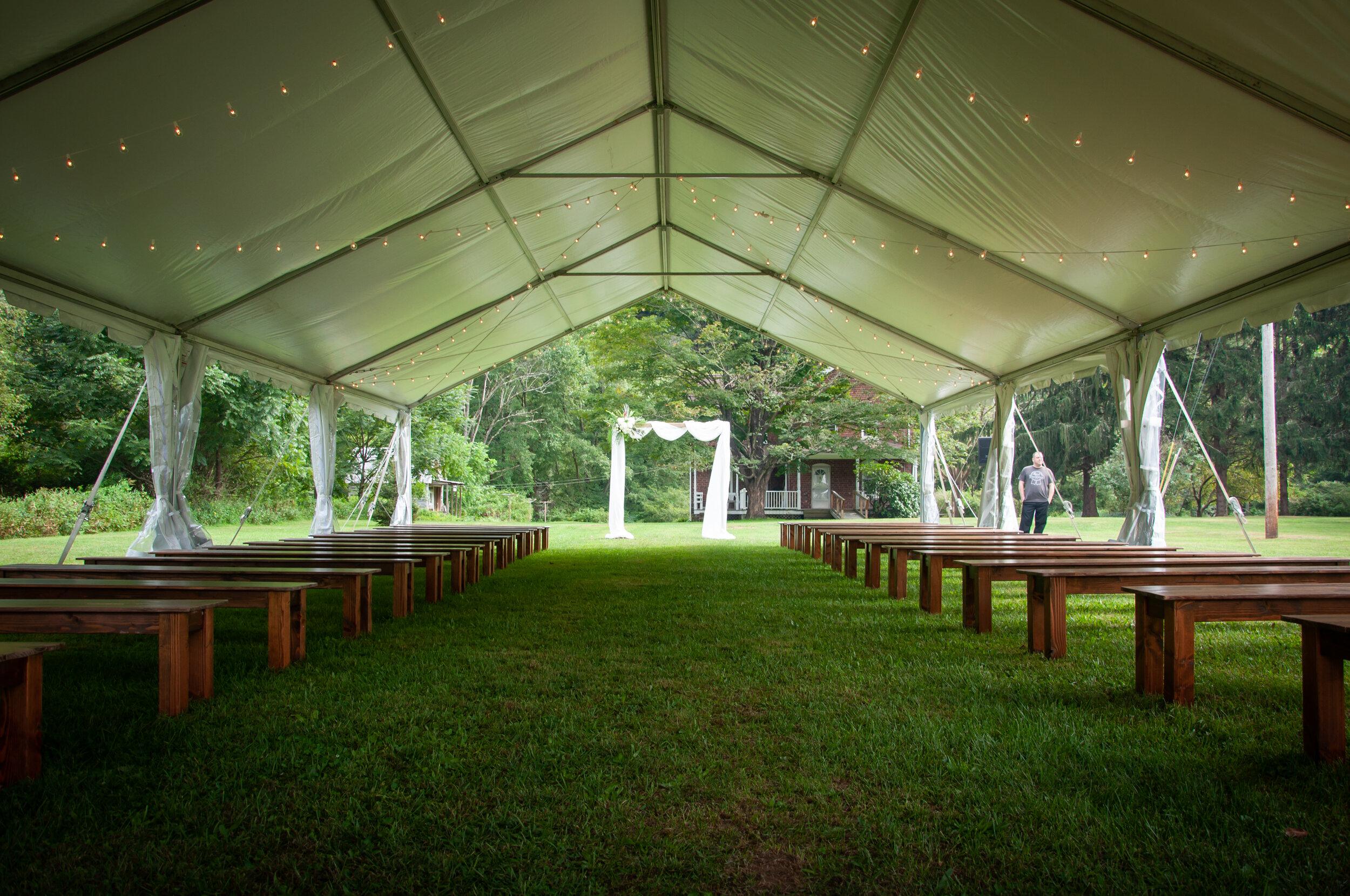 Wedding tent purchase