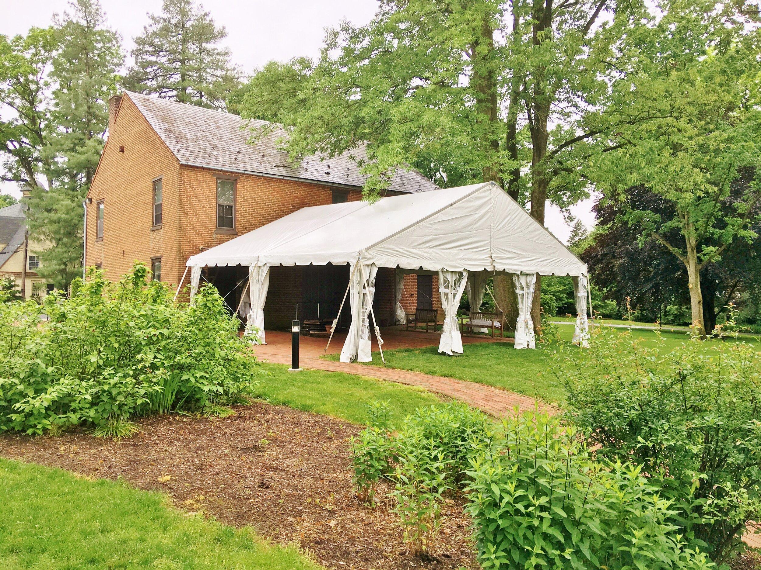 Wedding venue tent maintenance