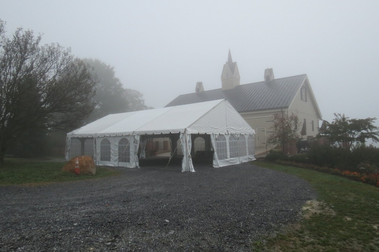 Wedding venue tent purchase