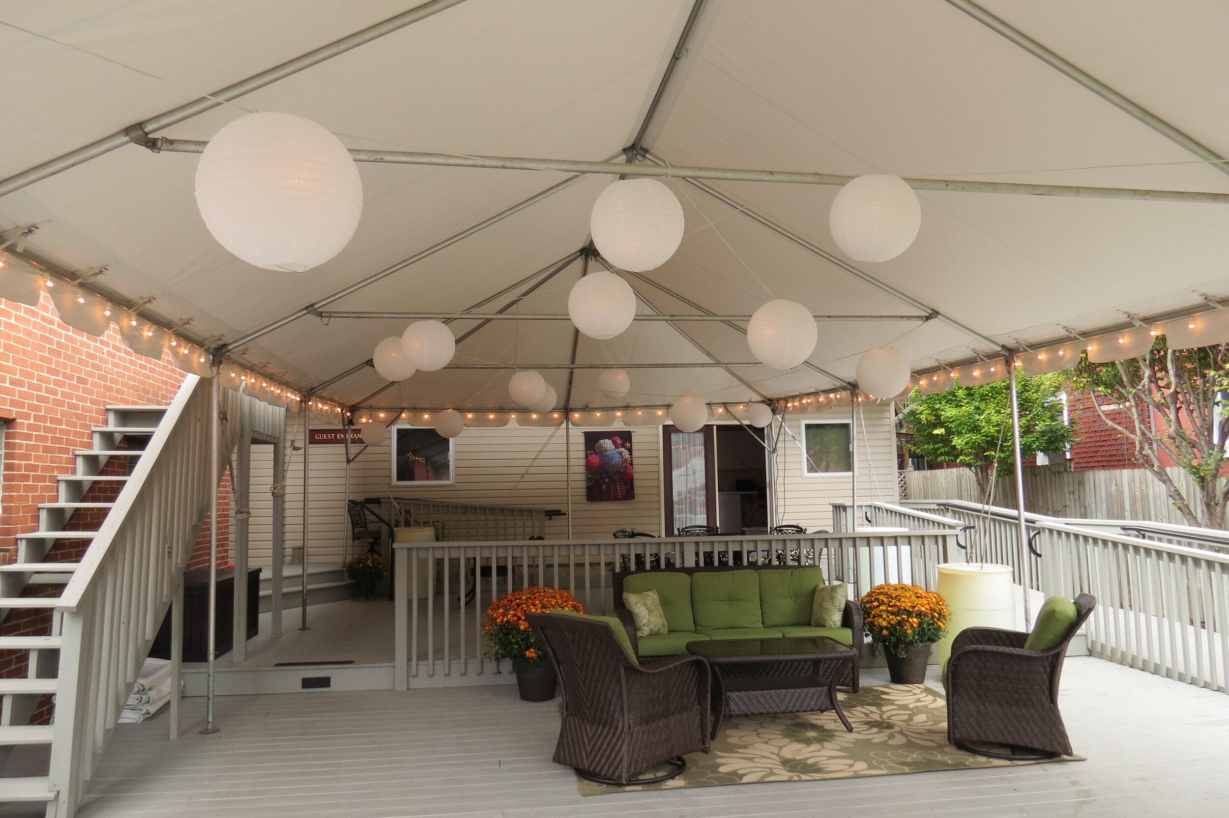 Wedding tent management