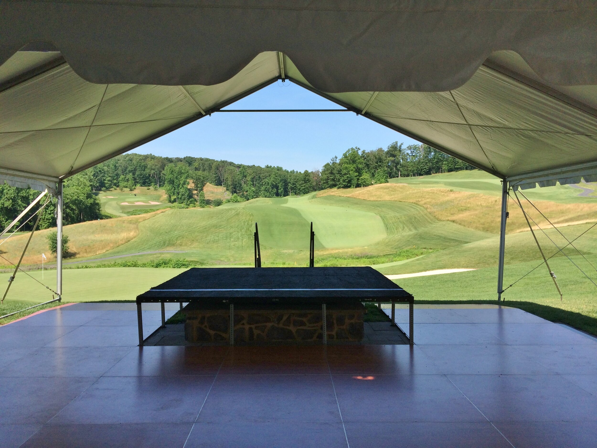 Golf course tent installation service