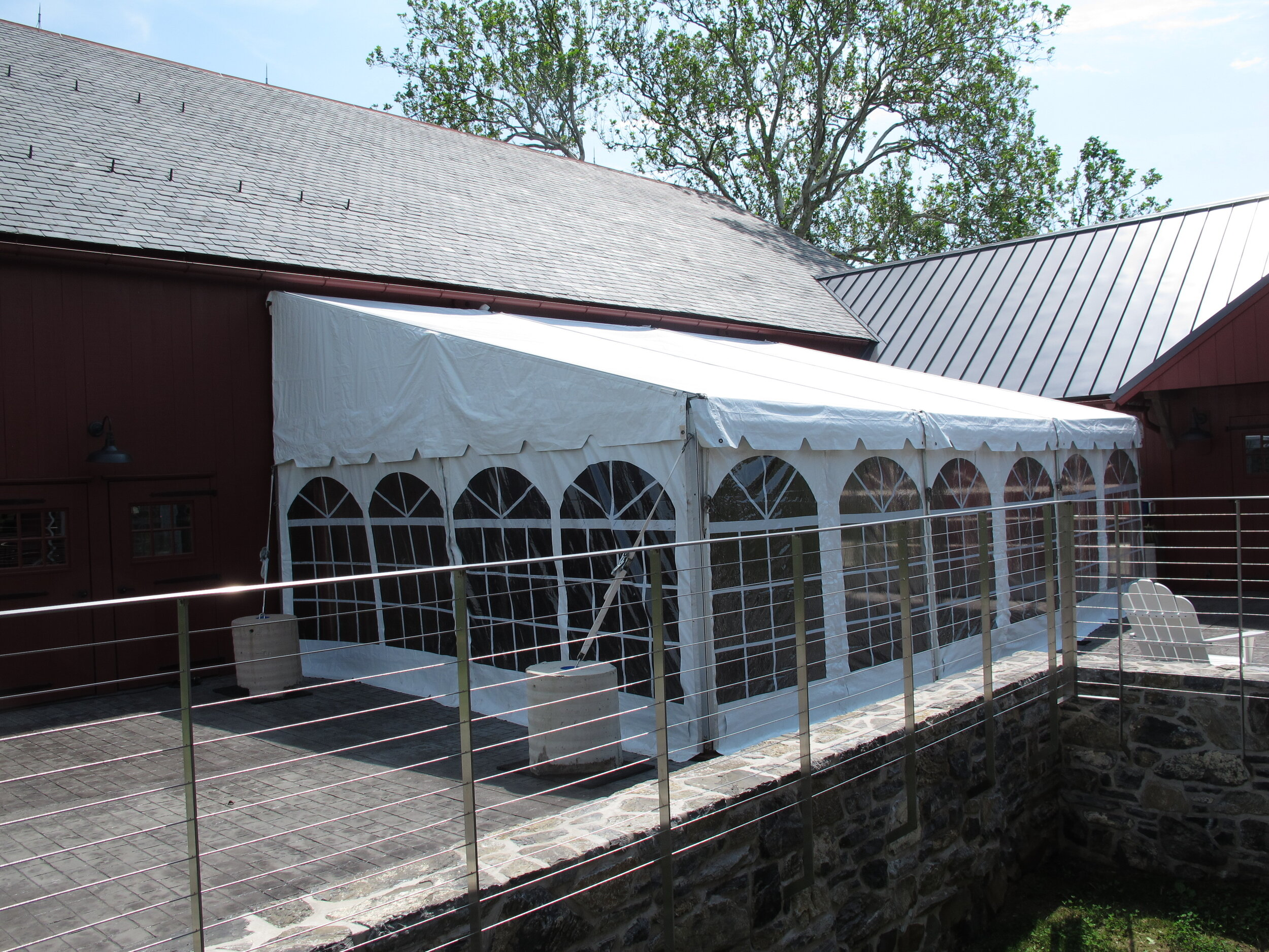 Wedding barn tent