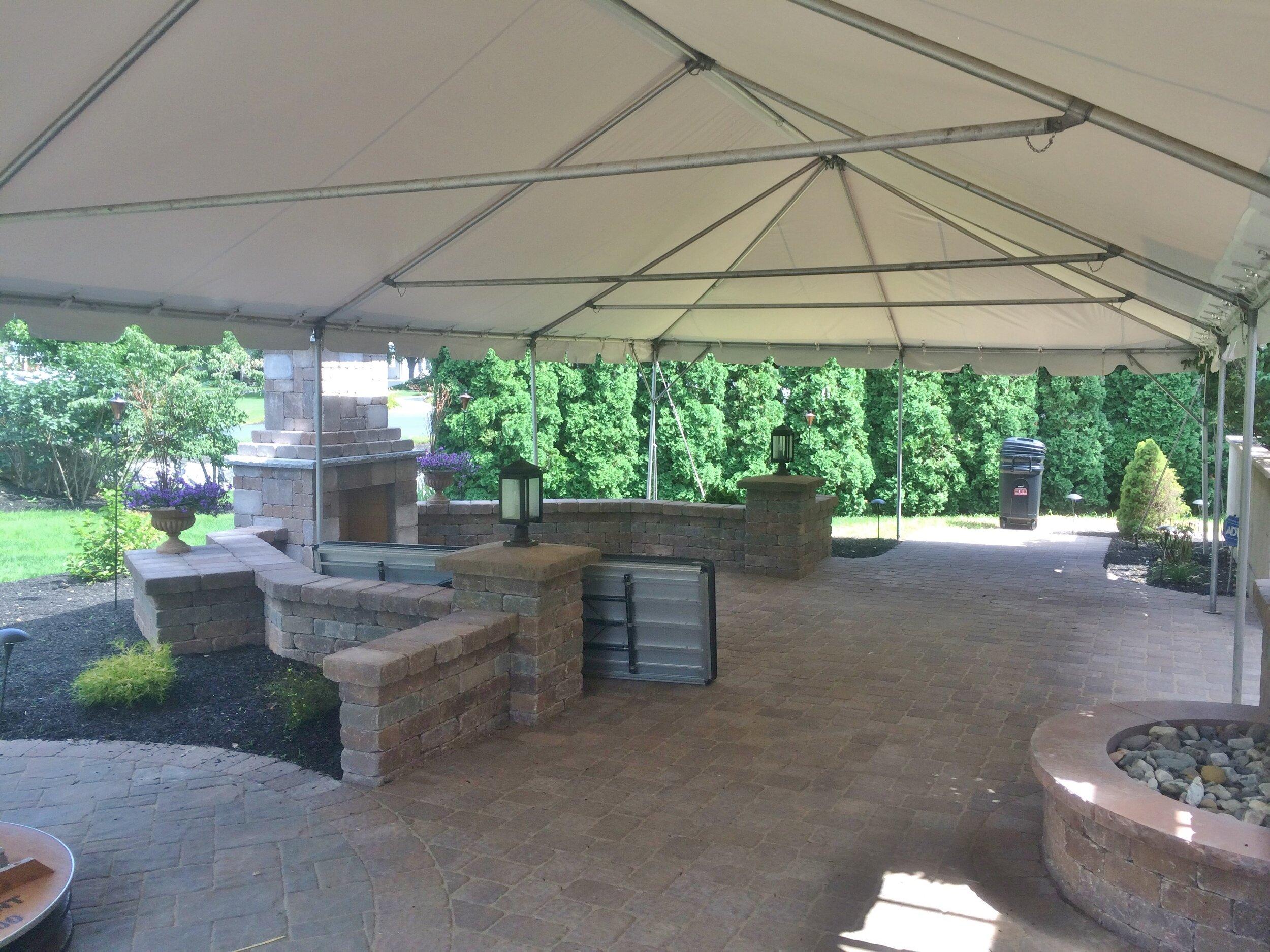 Summer patio tent