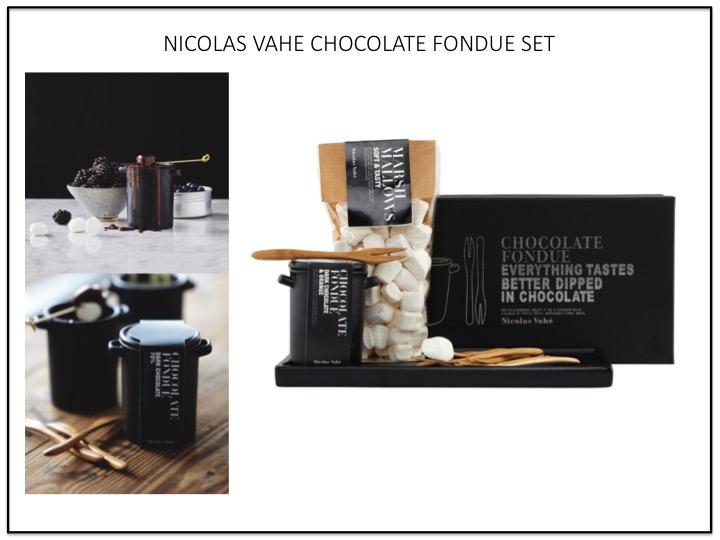 NICOLAS VAHE CHOCOLATE FONDUE SET