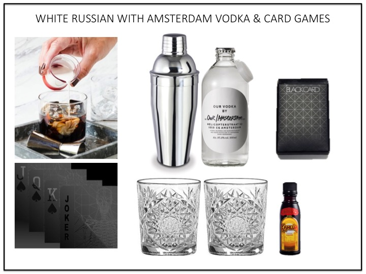WHITE RUSSIAN WITH AMSTERDAM VODKA & CARD GAMES