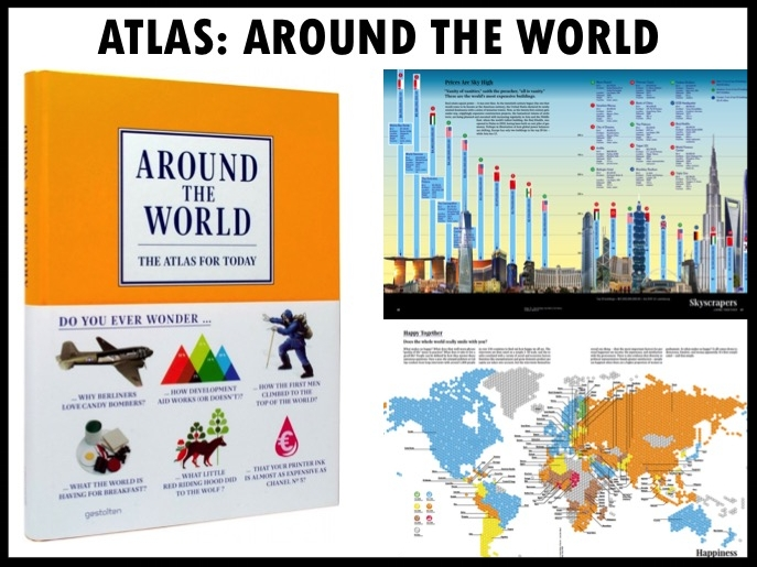 Wil jij alles weten over de wereld? Een mooi relatiegeschenk voor echte avonturiers en ontdekkingsreizigers is de Around the World atlas! Around the World is de hedendaagse versie van een atlas op maat van ons informatietijdperk. Met opvallende graphics, actuele thema's en duidelijke teksten is het boek voor iedereen die nieuwsgierig is over de toestand van onze planeet en de manier waarop we vandaag leven. Mooi verpakt in cadeauverpakking met lint, zijdepapier en eigen design kaart. Prijs per stuk €37,00. Vanaf 50 stuks te bestellen.
