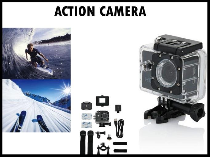 Get ready for some action! Een verjaardagscadeau met actie is deze action camera. Leg al je acties vast, of je nu aan het snowboarden bent, aan het surfen of aan het skiën, met de actie camera kan je alles vastleggen. Prijs per stuk vanaf 50 stuks €46,00 exclusief BTW.