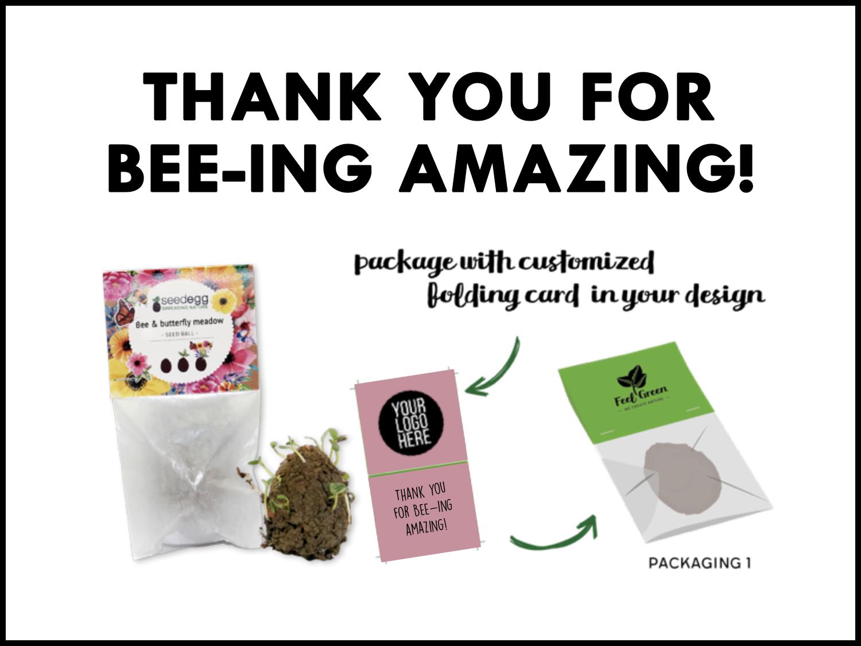 Op zoek naar een klein, origineel bedankje? Wat dacht je van deze leuke zakjes met daarin bijenzaadjes. Het zakje kan gepersonaliseerd worden met een leuke, persoonlijke tekst of met logo.