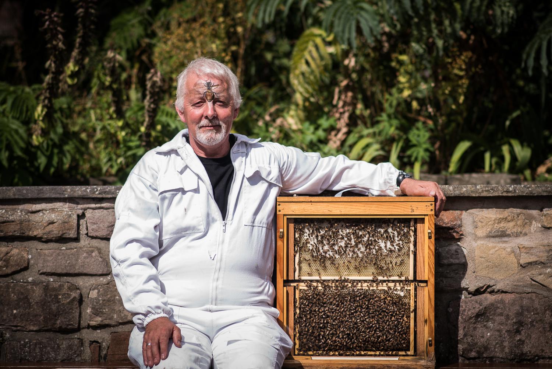 Brian Pool - Beekeeper in Residence - Edinburgh Zoo - Sat 29 August 2015 -9765 (photo credit - Andy Catlin).jpg