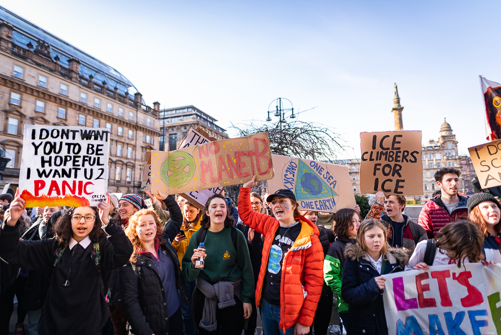 School Climate Change Strike Demonstration, Glasgow