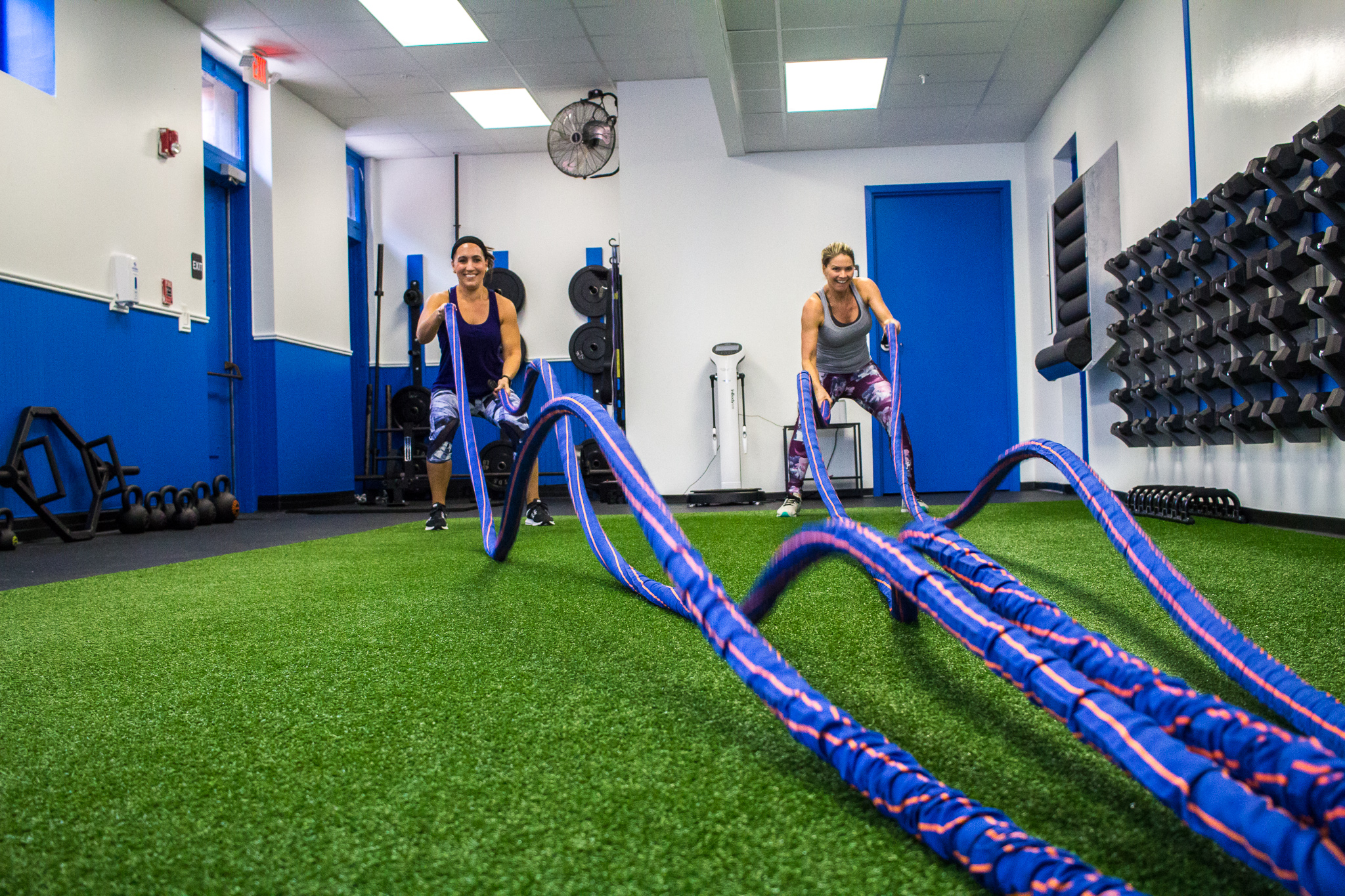 Semi-Private Training - Much like personal training, semi-private training provides individuals with personalized fitness routines. SPT best suits those with specific goals and or restrictions. We will build a custom routine to help you achieve your goals. SPT is great for everyone from beginner to advanced.