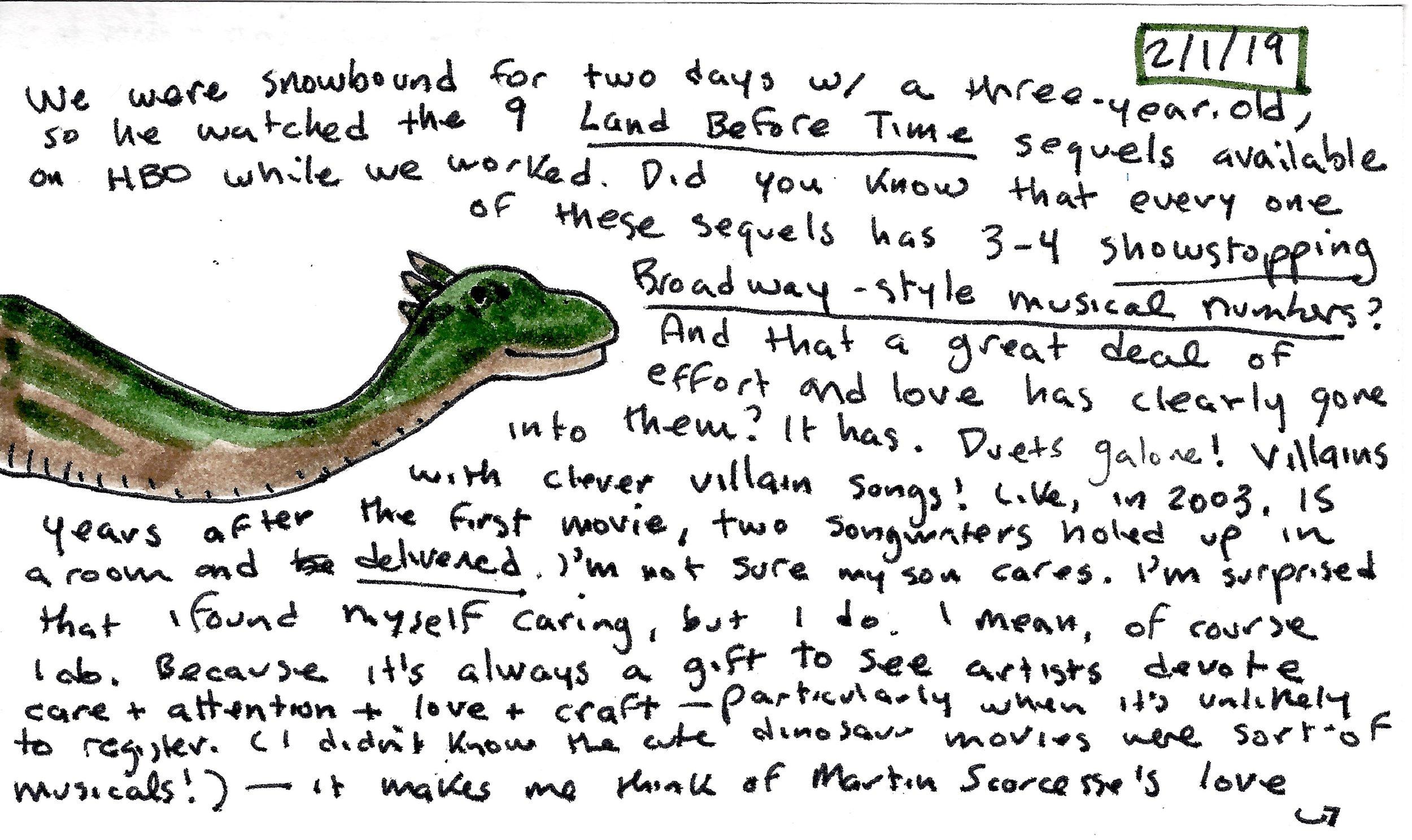 index card on the dinosaur songs.jpg