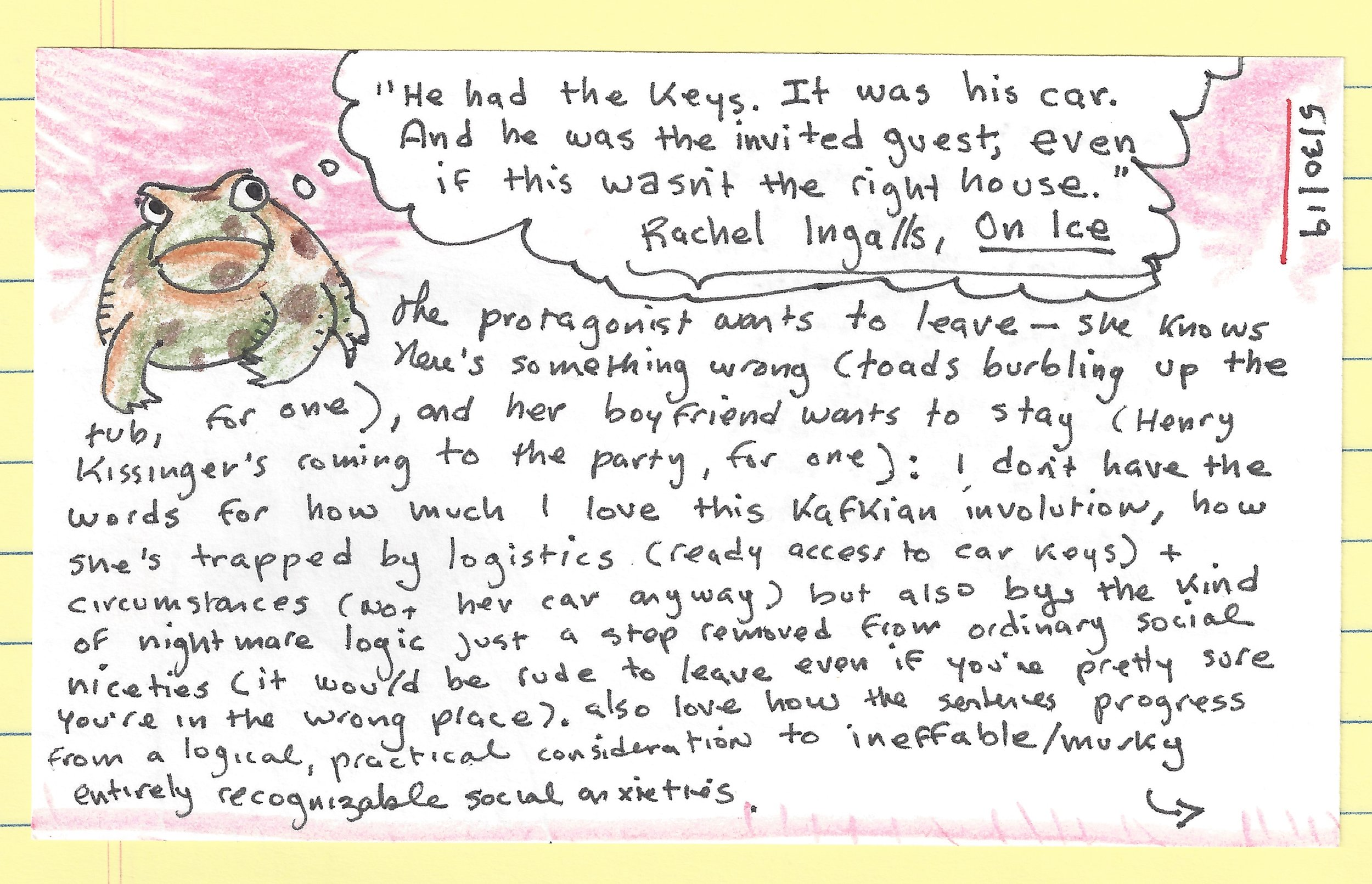 index card on rachel ingalls and nightmare social niceties front.jpg