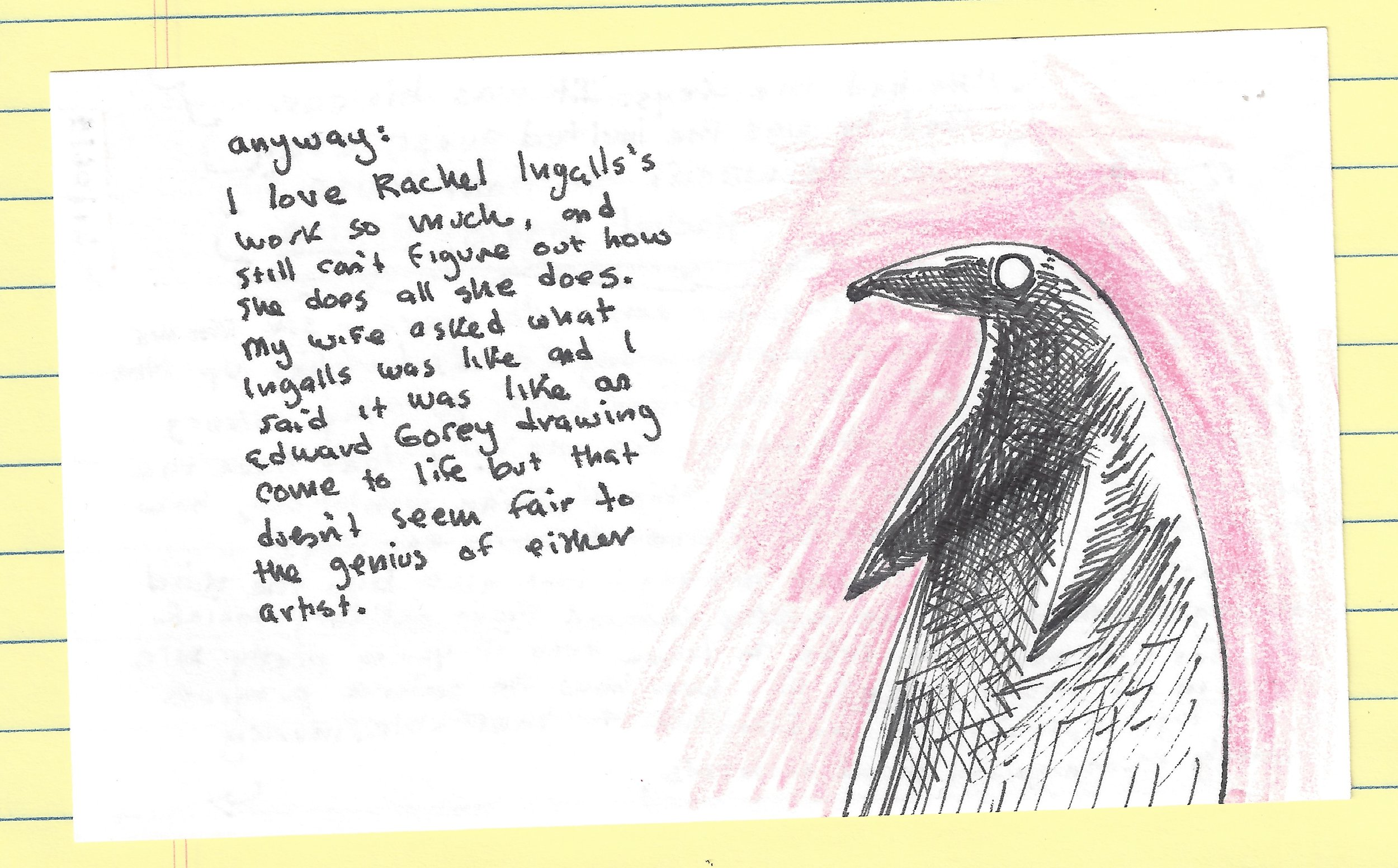 index card on rachel ingalls and nightmare social niceties back.jpg