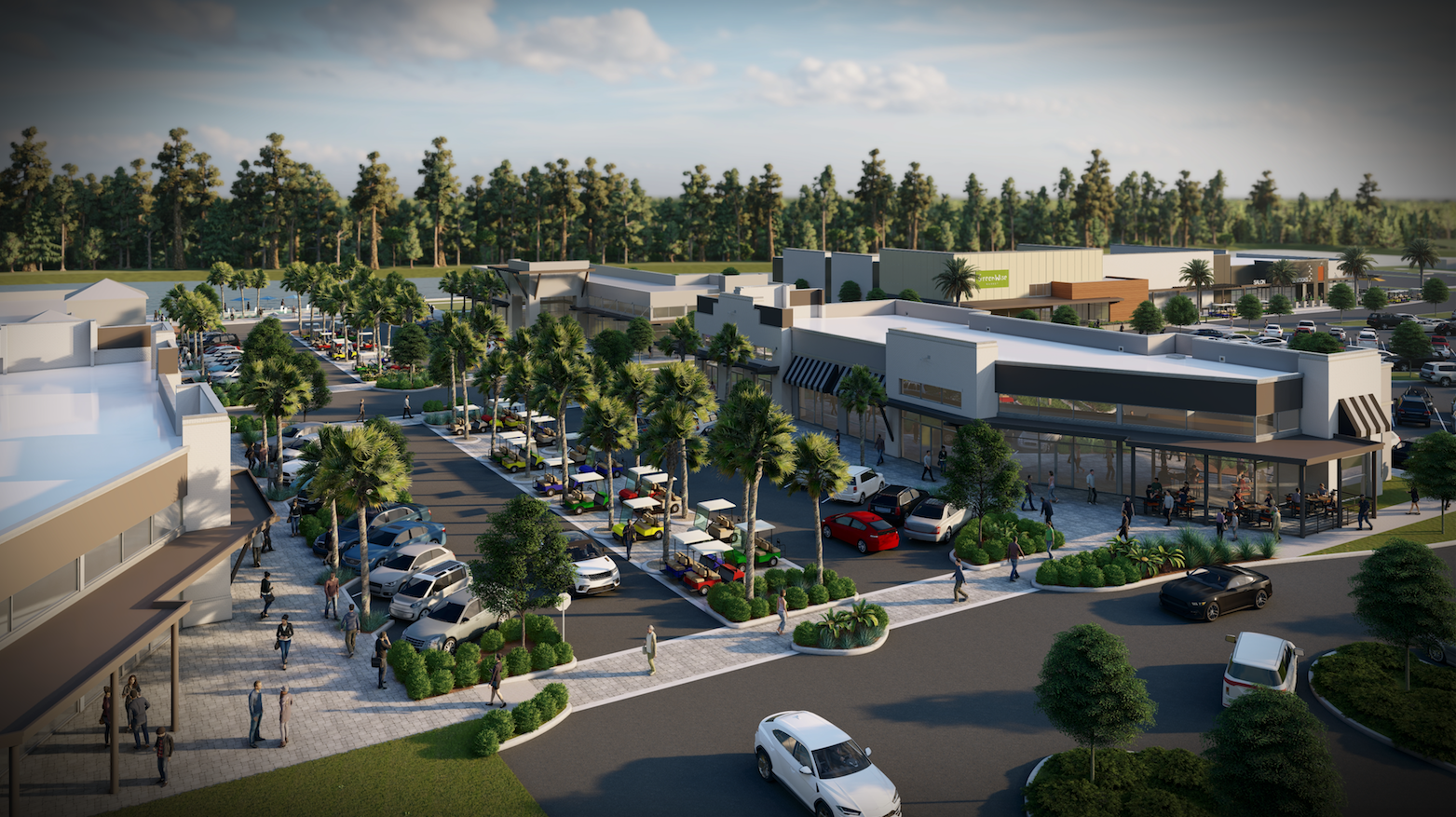 3D RENDERING OF THE EXPANDED NOCATEE TOWN CENTER