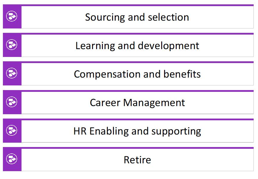 Fig 3. New Hire-to-retire (H2R) scenario clusters