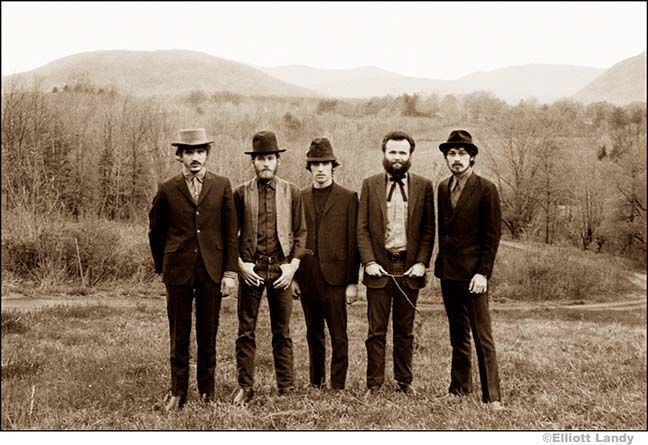 The Band, Music From Big Pink album photograph, Bearsville, Woodstock NY, 1968. Photo By ©Elliott Landy, LandyVision Inc.