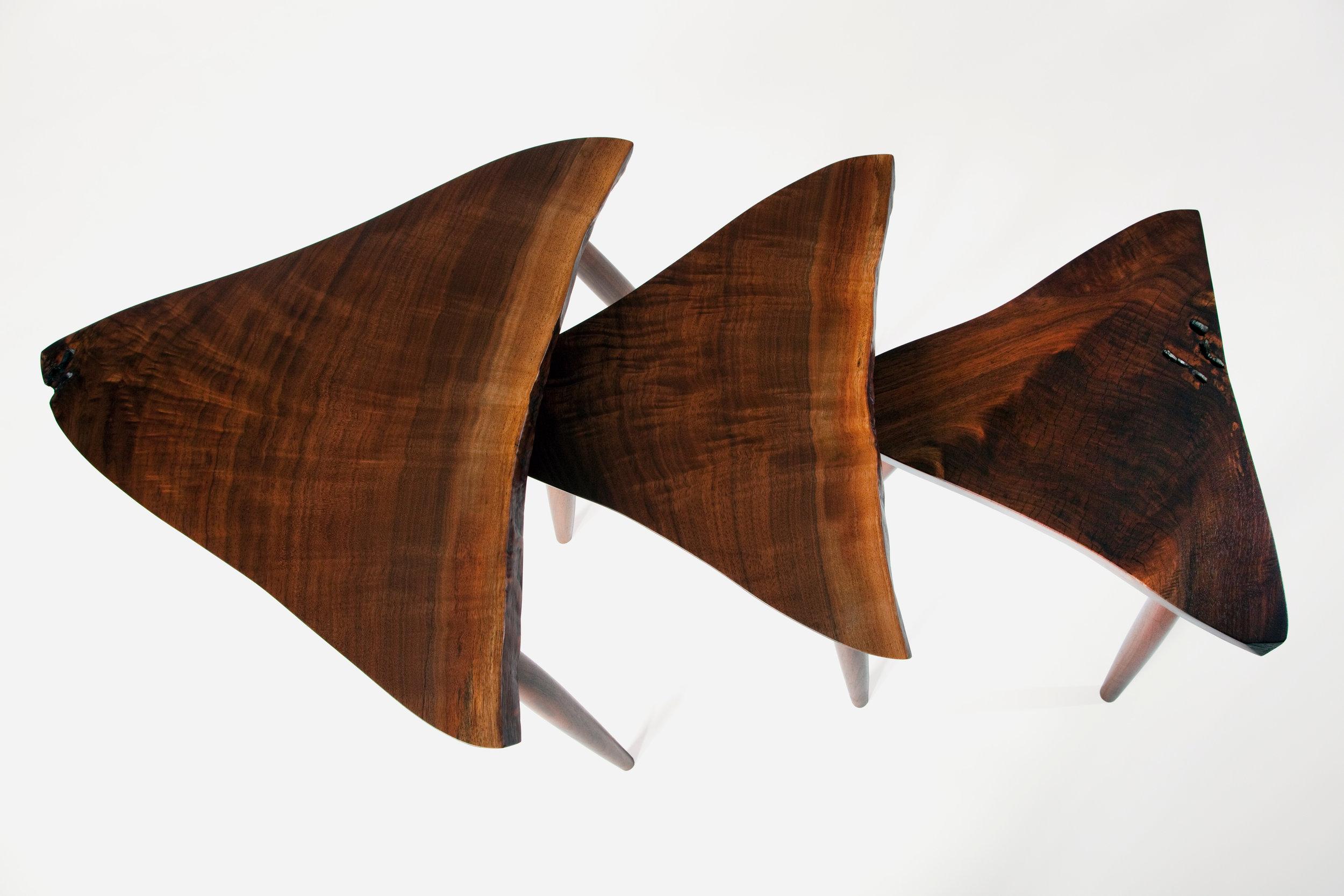 Mira Nakashima's Amoeba Tables