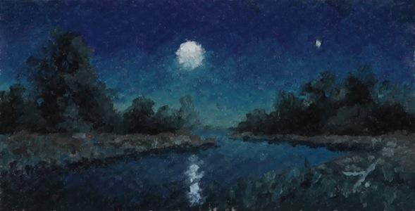 Detail from Moonrise Stream