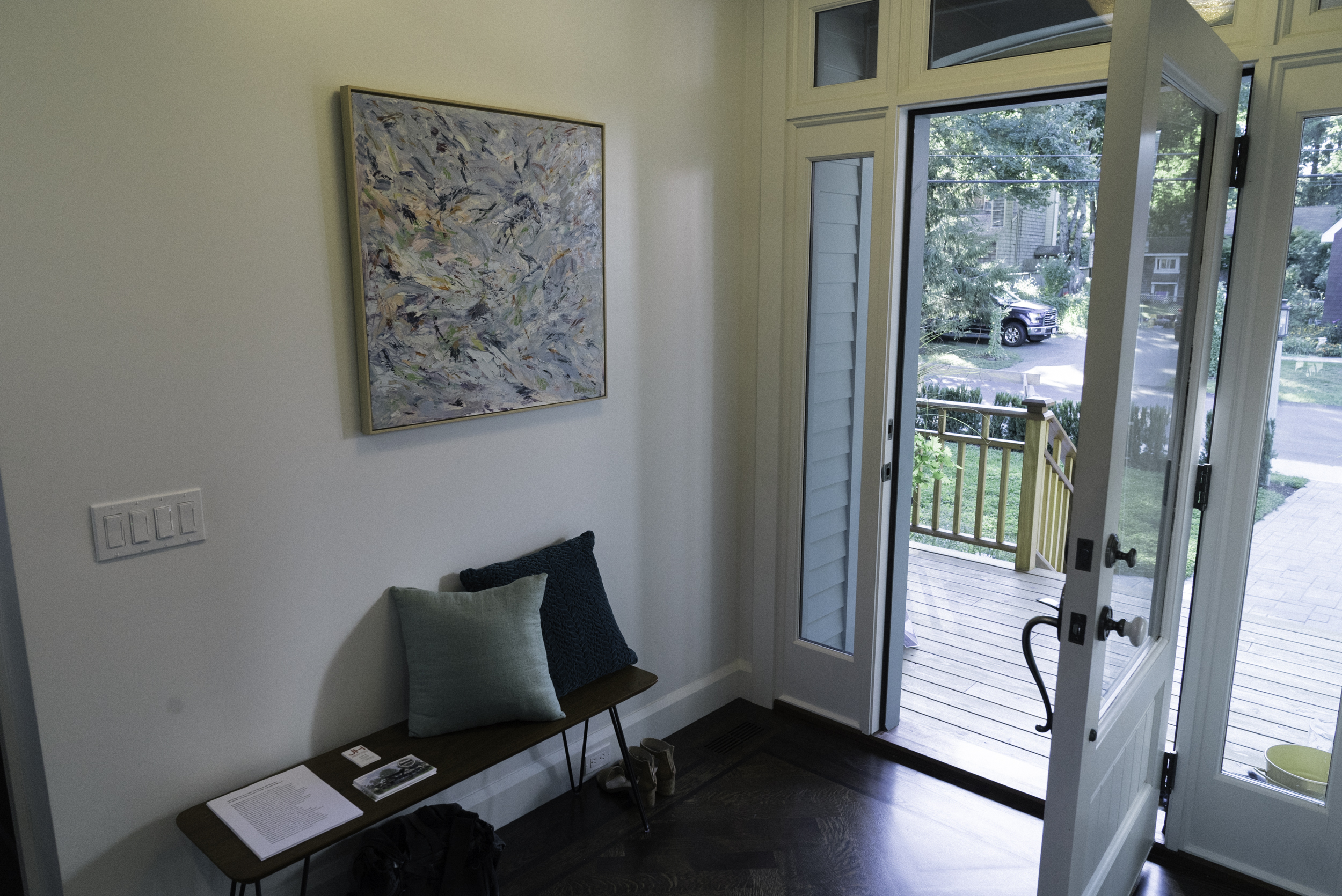 Entry foyer with Diana Bunting's painting  Blue Sky Day