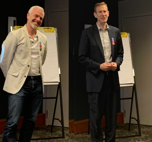 Brian and JP presenting at the CultureTalk Partner Day in Saratoga Springs, NY, June 2019