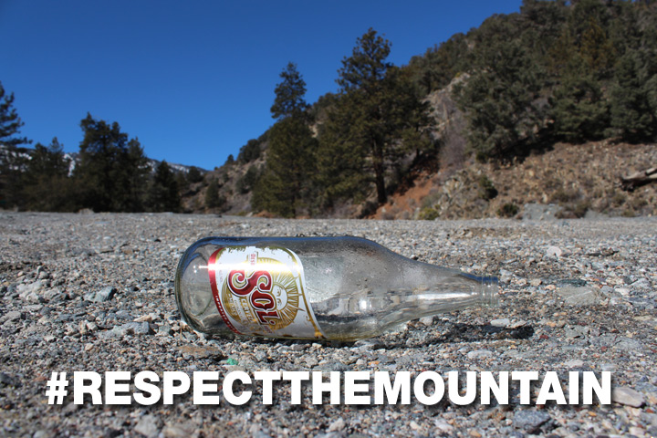 Find a trash can before you throw your trash out on the street. Respect the Mountain! #drainstoocean