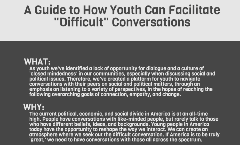 Click on this image to download our Conversations for Change guide