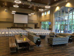 Our atrium is set for overflow BEFORE guests arrive.