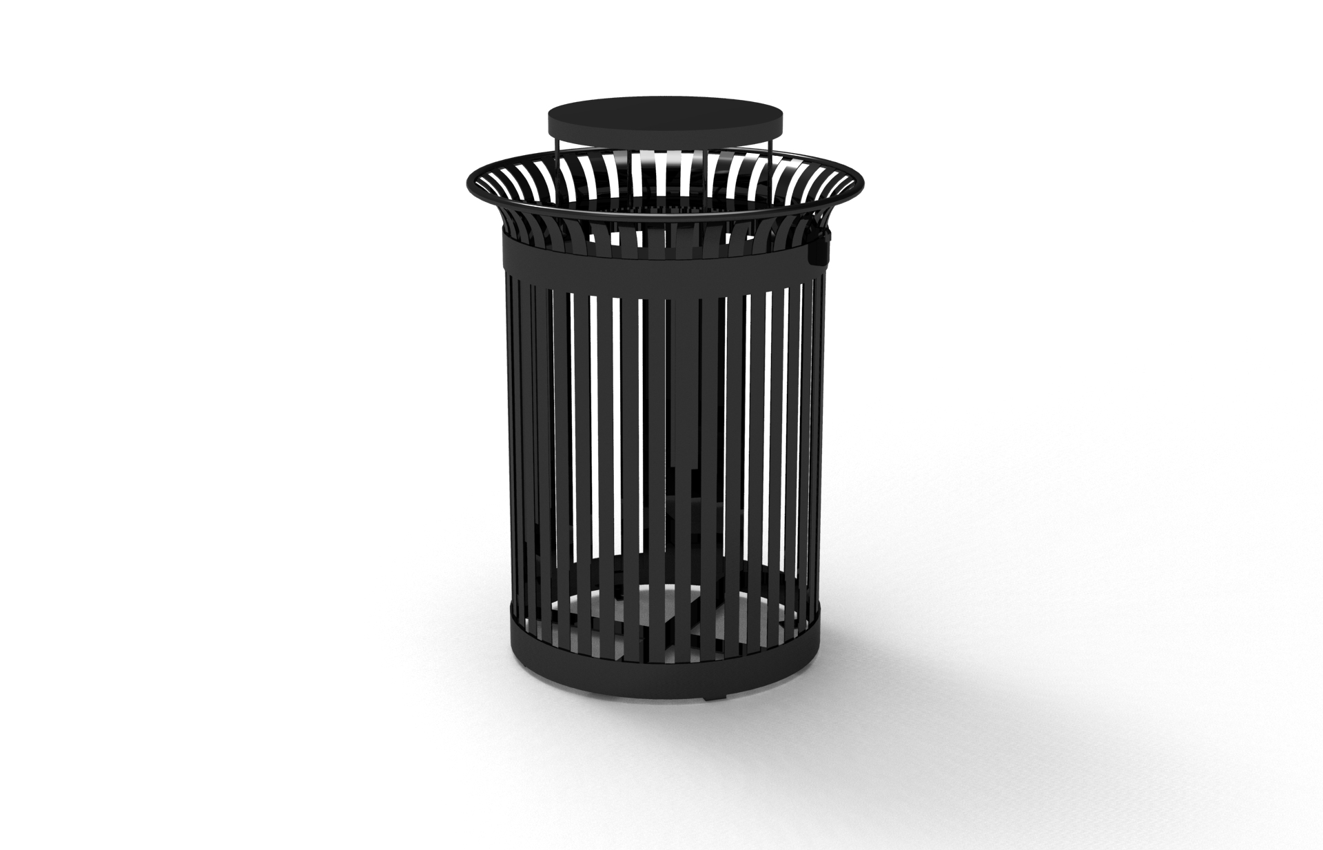 Steel Waste Bin with Rain Lid