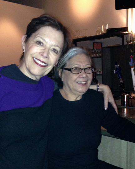 New Year's Eve visit with longtime friend Rosa Ross,
