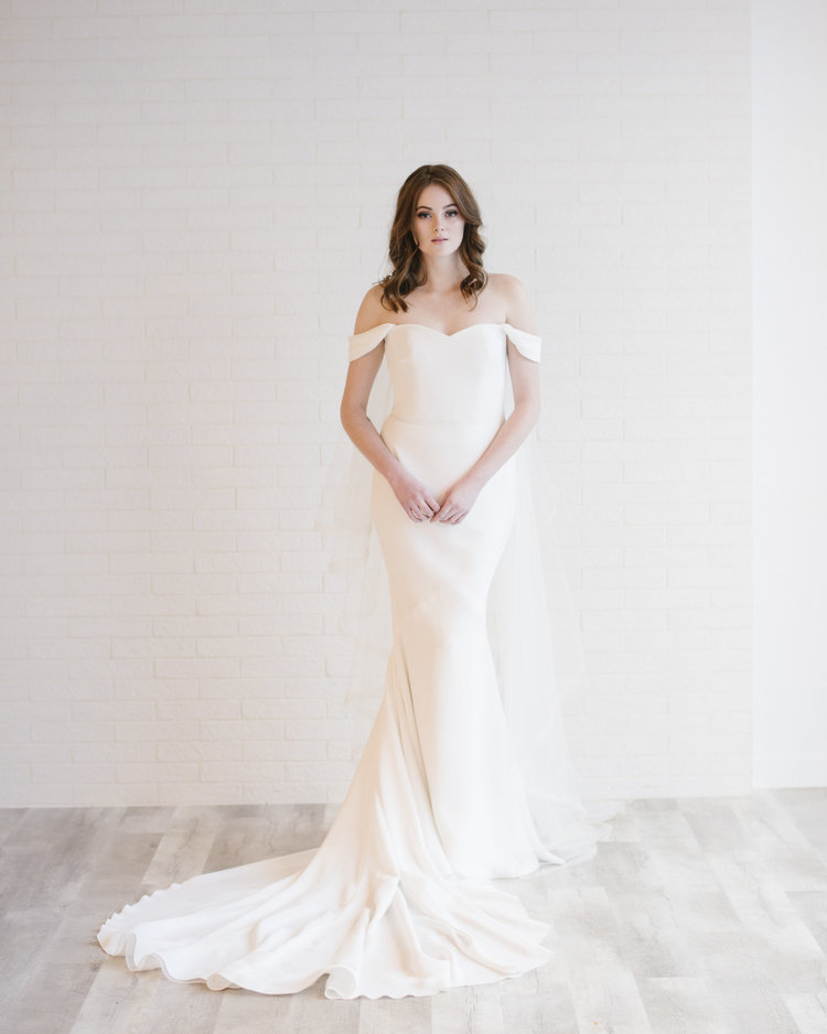Visit our bridal shops in Edmonton and Calgary to see this wedding dress in person -